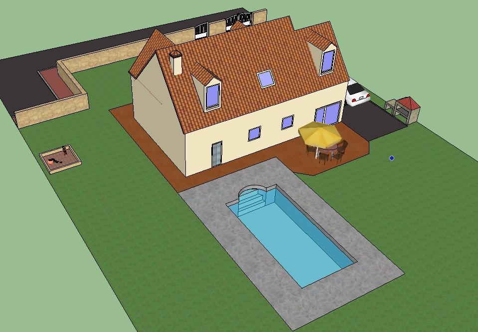 Construction de maison elo jc l ornement d une for Construction piscine 3d